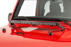 "Quadratec Stealth 27"" LED Light Bar with Hood Mount Brackets and Wiring for 07-18 Jeep Wrangler JK, JKU 97109.1431"