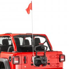 Quadratec Trail Flag with Mount Kit for 18+ Jeep Wrangler JL, JLU 96081.0081
