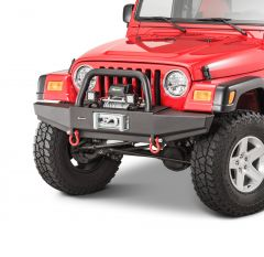 Quadratec Winch Ready Bull Bar Front Bumpers with Q9000 Winch for 97-06 Jeep Wrangler TJ & Unlimited 12057.0206