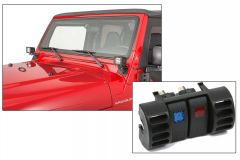 """Quadratec 3"""" Cube LED with Wiring Harness, Windshield Mounting Brackets & Daystar Vent Switch Panel with Switches for 97-06 Jeep Wrangler TJ 97109TJS3-"""