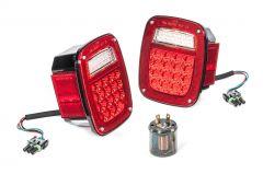 Quadratec LED Tail Light Kit for 87-90 Jeep Wrangler YJ 55213.0112
