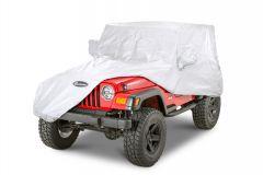 Quadratec Softbond UV Silver Cover 76-06 Jeep CJ-7, Wrangler YJ & TJ 11081.2020
