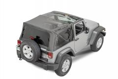 QuadraTop Gen II Complete Soft Top in Black Diamond for 07-18 Jeep Wrangler JK 11000.5335