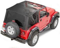 QuadraTop Gen II Complete Soft Top Without Doors for 97-06 Jeep Wrangler TJ 11000GEN2TJD-