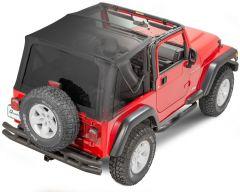 QuadraTop Gen II Complete Premium Sailcloth Soft Top for 97-06 Jeep Wrangler TJ 11000.5535
