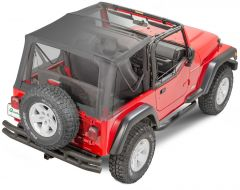 QuadraTop Gen II Complete Soft Top with Upper Doors for 97-06 Jeep Wrangler TJ 11000TJGEN2-