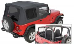 QuadraTop Gen II Complete Soft Top with Tinted Windows for 87-95 Jeep Wrangler YJ 11000YJGEN2-