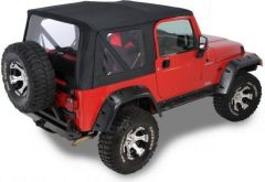 QuadraTop Replacement Soft Top with Clear Windows for 97-06 Jeep Wrangler TJ 11000TJC-