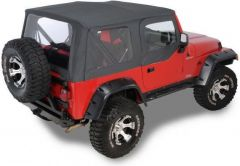 QuadraTop Replacement Soft Top with Upper Doors & Clear Windows for 97-06 Jeep Wrangler TJ 1100TJ-