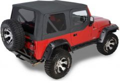 QuadraTop Replacement Soft Top with Upper Doors & Tinted Rear Windows for 97-06 Jeep Wrangler TJ 11000TJ-