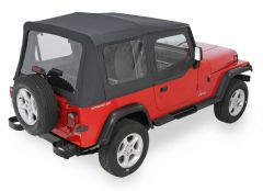 QuadraTop Replacement Soft Top with Upper Doors & Clear Windows for 88-95 Jeep Wrangler YJ 1100YJ-