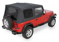QuadraTop Replacement Soft Top with Upper Doors & Tinted Rear Windows for 88-95 Jeep Wrangler YJ 11000YJ-