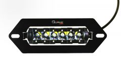 "Quake LED 9"" Flush Mount LED Light with Mount for winch fairlead opening QUM684"