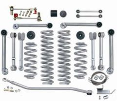 "Rubicon Express 3.5"" Super-Flex Suspension System With Upper Adjustable Control Arms Without Shocks For 1997-06 Jeep Wrangler TJ Models RE7000-3"