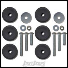 """Rock Krawler Front 1""""-3"""" Stackable Bump Stop Kit For 2007-18 Jeep Wrangler JK 2 Door & Unlimited 4 Door Models RK05611"""