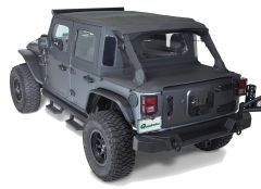 Rampage Trailview Tonneau Soft Top Black Diamond for 07-18 Jeep Wrangler JK 2 Door 990235