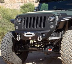 Road Armor Stealth Competition Cut Front Winch Bumper for 07-18+ Jeep Wrangler JK, JL & 20+ Gladiator JT 5180F-