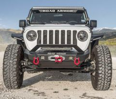 Road Armor Stealth Mid Width Front Winch Bumper for 18+ Jeep Wrangler JL & 20+ Gladiator JT 5182F3-