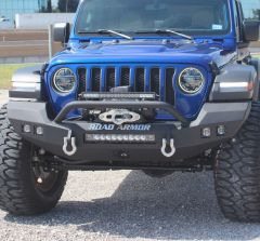 Road Armor Stealth Full Width Front Winch Bumper for 18+ Jeep Wrangler JL & 20+ Gladiator JT 5183F-