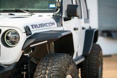 Road Armor Stealth Steel Wide Fender Flares Front for 18+ Jeep Wrangler JL & 20+ Gladiator JT 518AFFWB