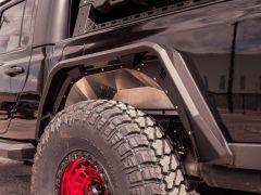 Road Armor Stealth Body Armor Inner Fender Liners Rear Pair for 20+ Jeep Gladiator JT 520LFR0Z