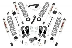 Rough Country 3.5in Jeep Suspension Lift Kit | Control Arm Drop w/ V2 Monotube shocks for 07-18 Jeep Wrangler JK Unlimited 69470