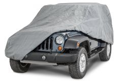Rampage 4 Layer Full Cover in Grey For 2007-18 Jeep Wrangler JK 2 Door (includes Lock Cable & Storage Bag) 1203