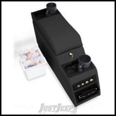 Rampage Locking Center Console In Black Denim For 1976-95 Jeep CJ Series & Wrangler YJ 31515