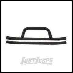Rampage Front Double Tube Bumper With Hoop Black For 2007-18 Jeep Wrangler JK 2 Door & Unlimited 4 Door 86620