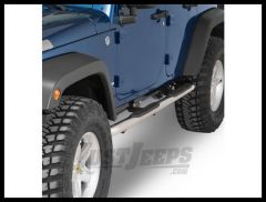 Rampage Products Endurance Side Bars For 2007+ Jeep Wrangler JK Unlimited 4 Door (Polished Stainless) 9428