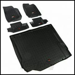 Rugged Ridge 5 Piece Floor Liner Kit For 2007-10 Jeep Wrangler JK 2 Door Models 12988.02-