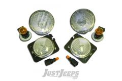 RT Off-Road Clear Corner & Turn Signal Lens Kit For 2007-18 Jeep Wrangler JK 2 Door & Unlimited 4 Door Models RT28018