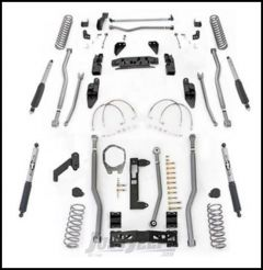 """Rubicon Express 4.5"""" Extreme Duty 4-Link Front With Rear 3-Link Long Arm Lift Kit & Mono-Tube Shocks For 2007-18 Jeep Wrangler JK 2 Door Models JK4324M"""