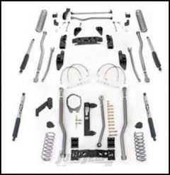 """Rubicon Express 5.5"""" Extreme Duty 4-Link Front With Rear 3-Link Long Arm Lift Kit & Mono-Tube Shocks For 2007-18 Jeep Wrangler JK 2 Door Models JK4325M"""