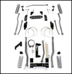 "Rubicon Express 3.5"" Extreme Duty 4-Link Front With Rear 3-Link Long Arm Lift Kit Without Shocks For 2007-18 Jeep Wrangler JK 4 Door Unlimited Models JK4343"