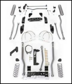 """Rubicon Express 4.5"""" Extreme Duty 4-Link Front With Rear 3-Link Long Arm Lift Kit Without Shocks For 2007-18 Jeep Wrangler JK 4 Door Unlimited Models JK4344"""