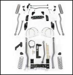 "Rubicon Express 5.5"" Extreme Duty 4-Link Front With Rear 3-Link Long Arm Lift Kit Without Shocks For 2007-18 Jeep Wrangler JK 4 Door Unlimited Models JK4345"