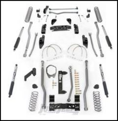 """Rubicon Express 5.5"""" Extreme Duty 4-Link Front With Rear 3-Link Long Arm Lift Kit & Mono-Tube Shocks For 2007-18 Jeep Wrangler JK 4 Door Unlimited Models JK4345M"""