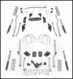 "Rubicon Express 3.5"" Extreme Duty 4-Link Front With Rear Radius Long Arm Lift Kit & Mono-Tube Shocks For 2007-18 Jeep Wrangler JK 2 Door Models JK4R23M"