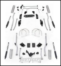"Rubicon Express 4.5"" Extreme Duty 4-Link Front With Rear Radius Long Arm Lift Kit & Mono-Tube Shocks For 2007-18 Jeep Wrangler JK 2 Door Models JK4R24M"
