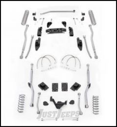 "Rubicon Express 3.5"" Extreme Duty 4-Link Front With Rear Radius Long Arm Lift Kit Without Shocks For 2007-18 Jeep Wrangler JK 4 Door Unlimited Models JK4R43"