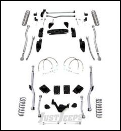 """Rubicon Express 4.5"""" Extreme Duty 4-Link Front With Rear Radius Long Arm Lift Kit Without Shocks For 2007-18 Jeep Wrangler JK 4 Door Unlimited Models JK4R44"""
