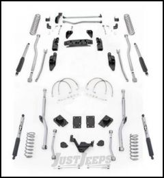 "Rubicon Express 4.5"" Extreme Duty 4-Link Front With Rear Radius Long Arm Lift Kit & Mono-Tube Shocks For 2007-18 Jeep Wrangler JK 4 Door Unlimited Models JK4R44M"
