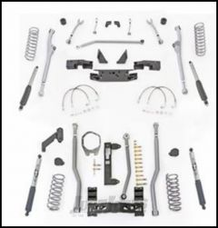 """Rubicon Express 3.5"""" Extreme Duty Radius Front With Rear 3-Link Long Arm Lift Kit & Mono-Tube Shocks For 2007-18 Jeep Wrangler JK Unlimited 4 Door Models JKR343M"""