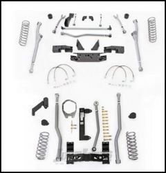 """Rubicon Express 4.5"""" Extreme Duty Radius Front With Rear 3-Link Long Arm Lift Kit Without Shocks For 2007-18 Jeep Wrangler JK 4 Door Unlimited Models JKR344"""