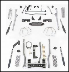 """Rubicon Express 4.5"""" Extreme Duty Radius Front With Rear 3-Link Long Arm Lift Kit & Mono-Tube Shocks For 2007-18 Jeep Wrangler JK 4 Door Unlimited Models JKR344M"""