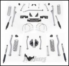 """Rubicon Express 3.5"""" Extreme Duty 4-Link Front With Rear Radius Long Arm Lift Kit & Mono-Tube Shocks For 2007-18 Jeep Wrangler JK 2 Door Models JKR423M"""