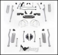 """Rubicon Express 4.5"""" Extreme Duty 4-Link Front With Rear Radius Long Arm Lift Kit Without Shocks For 2007-18 Jeep Wrangler JK 2 Door Models JKR424"""