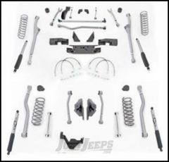 "Rubicon Express 4.5"" Extreme Duty Radius Front With Rear 4-Link Long Arm Lift & Mono-Tube Shocks For 2007-18 Jeep Wrangler JK 2 Door Models JKR424M"