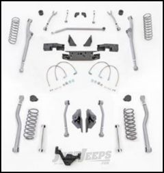 """Rubicon Express 3.5"""" Extreme Duty Radius Front With Rear 4-Link Long Arm Lift Kit Without Shocks For 2007-18 Jeep Wrangler JK 4 Door Unlimited Models JKR443"""